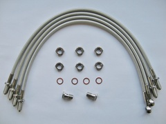 Stainless steel pvc coated braided brake hose kit