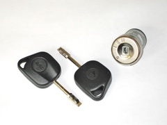 Ignition barrel and key set