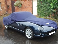 Custom made indoor cover with TVR logo