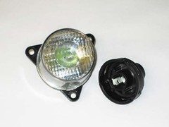 Front clear flasher lamp