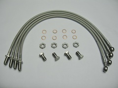BRAIDED BRAKE HOSE KIT SPEED 6
