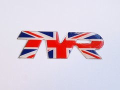 TVR UNION JACK LOGO STICKER BADGE