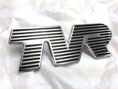 SILVER TVR BONNET BADGE