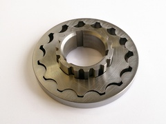 Serpentine oil pump gears